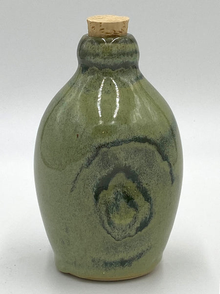 Jade Green Corked Bottle