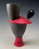 Red Chicken Vase #1