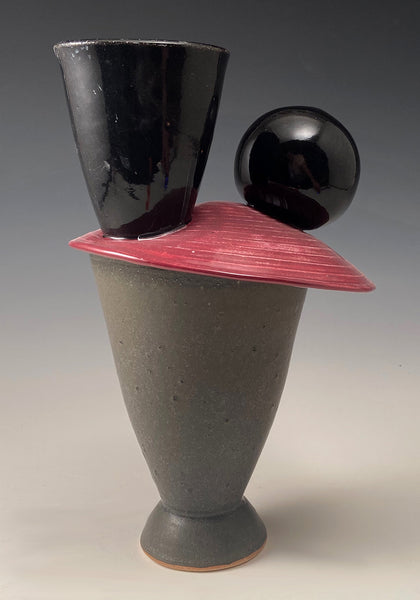 Red Chicken Vase #2