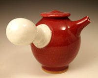 Red Side Teapot