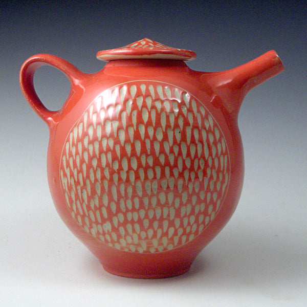 Red Orange Teapot