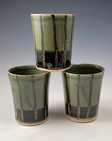 Striped Green Cup (1 of 3)