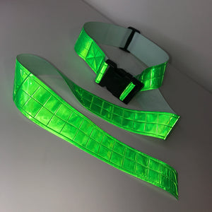 Thick Hi Vis Neon Green Buckle Belt