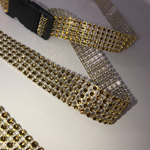Thin Gold Diamanté Buckle Belt