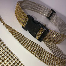 Load image into Gallery viewer, Medium Gold Diamanté Buckle Belt