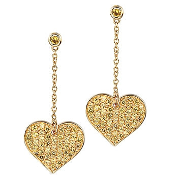 TAYValez 18kt gold unconditional love earrings