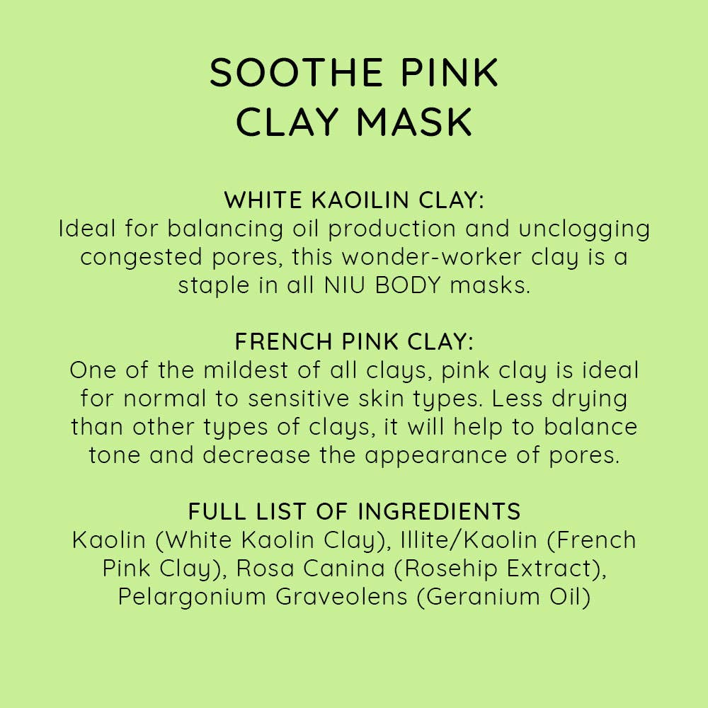 Soothe Pink Clay Mask