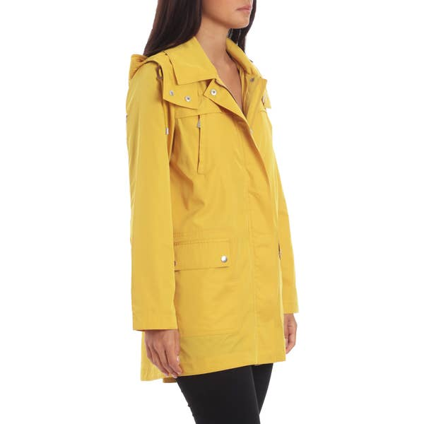 Pleat-Back Rain Jacket - Daffodil