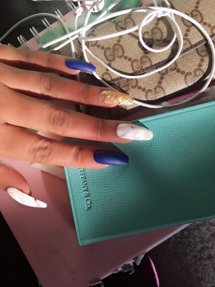 Marble, Matte Blue, Clearly Gilded TAYsearch Nail Kit