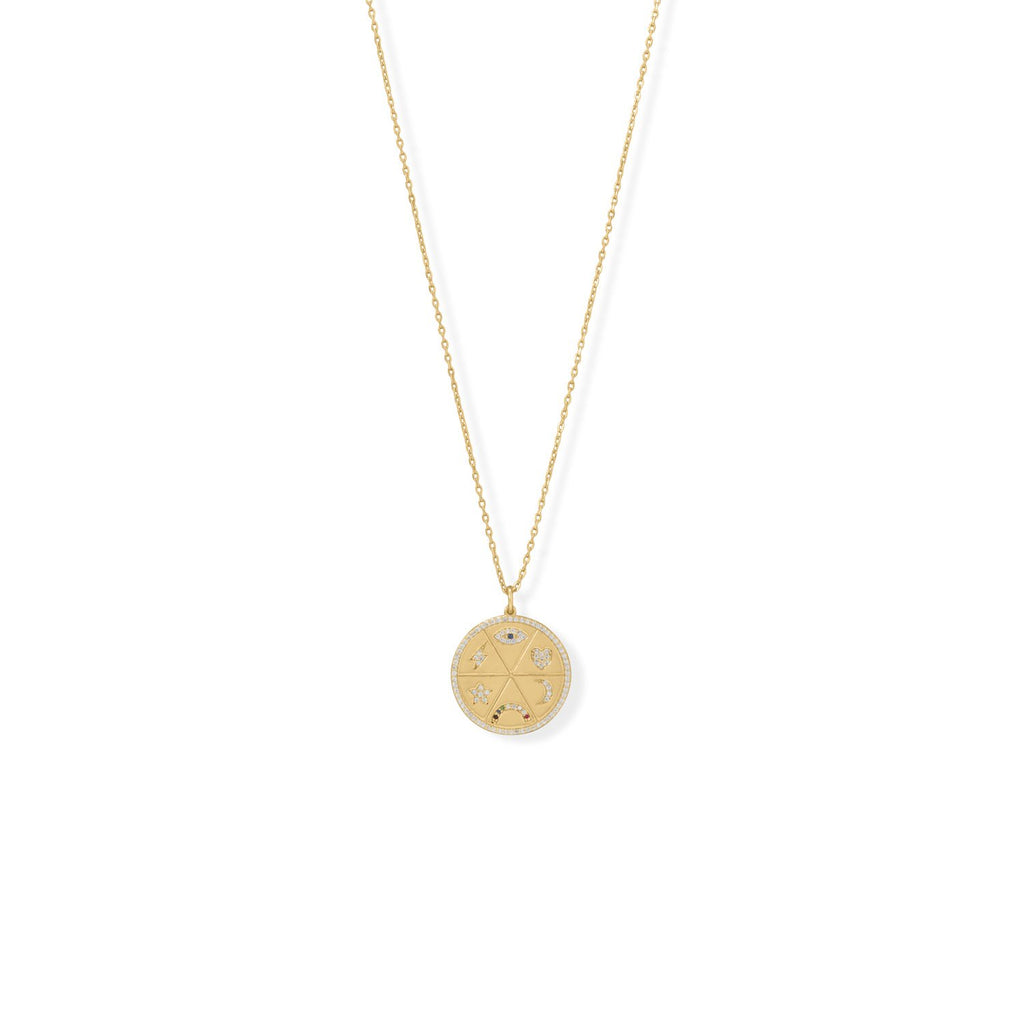We all in  celestial medallion necklace
