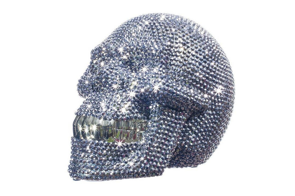 "Interior Illusions Plus Rhinestone Skull Bank - 8"" long"