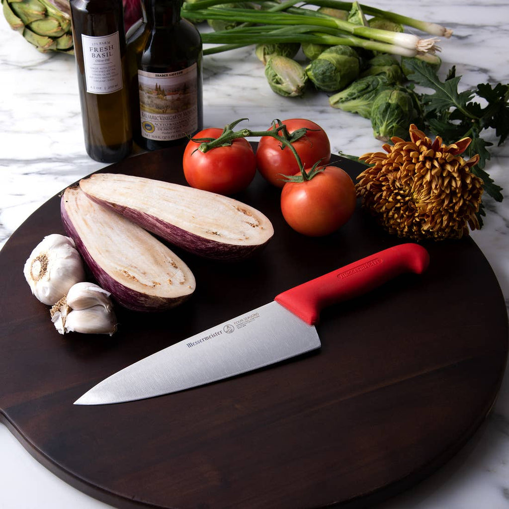 Four Seasons Red Wide-blade Chef's Knife-8""