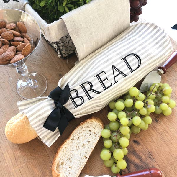 Linen Demi Roll Bread Bag