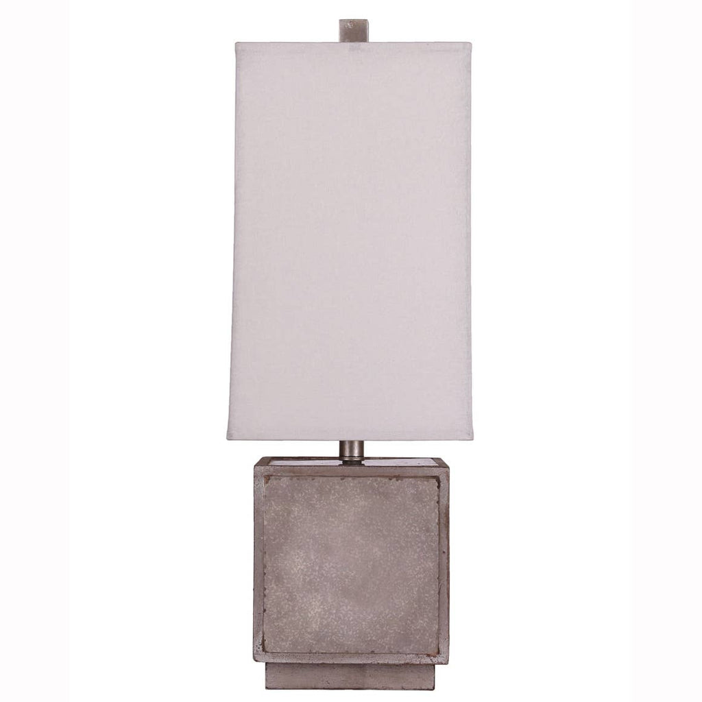 Silver Matilda Table Lamp with USB