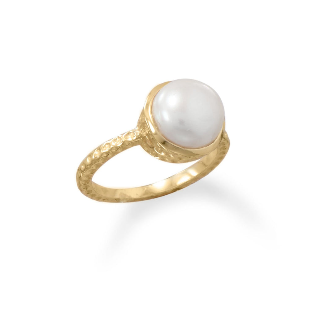 14 Karat Gold Dipped Cultured Freshwater Pearl Ring