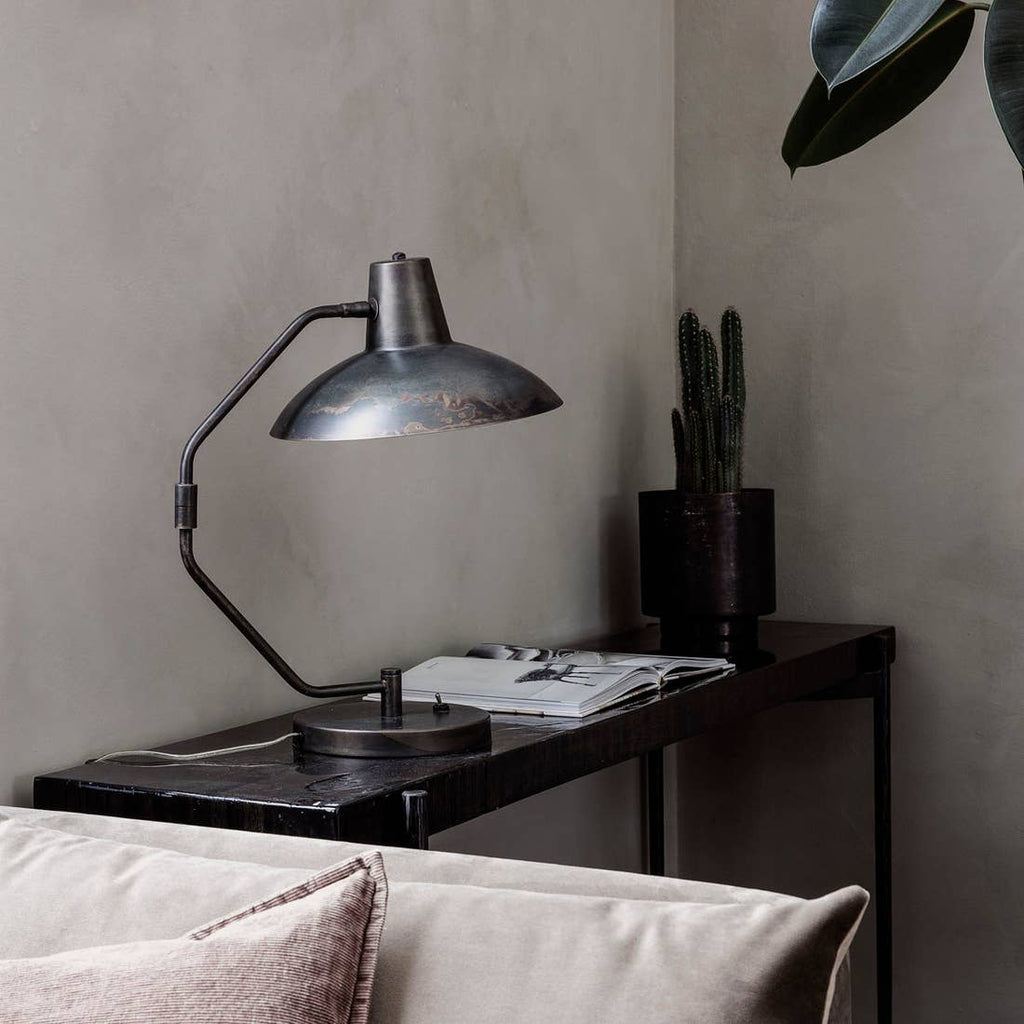 Table Lamp, Desk, Antique brown