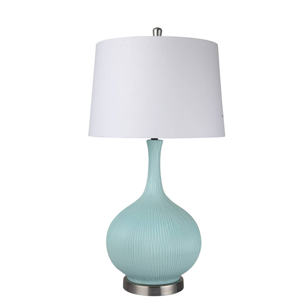 Aqua Nathan Table Lamp with USB