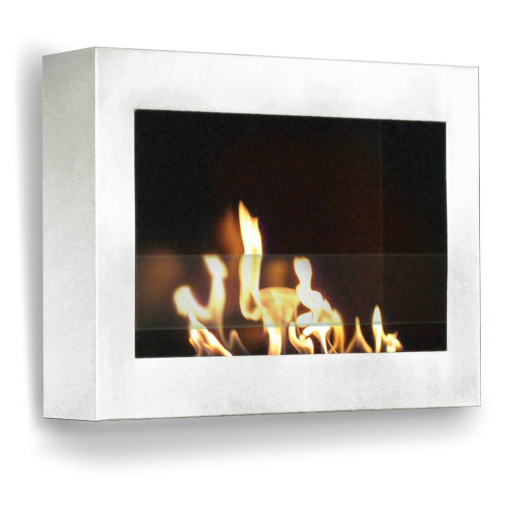 Anywhere Fireplace Indoor Wall Mount Fireplace - SoHo White