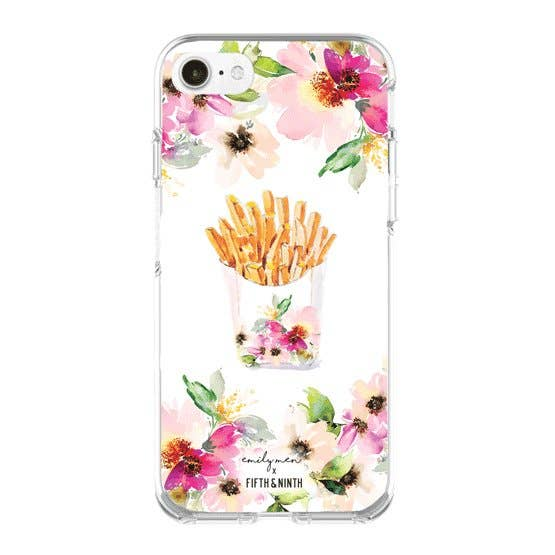 Flowers and Fries iPhone Case