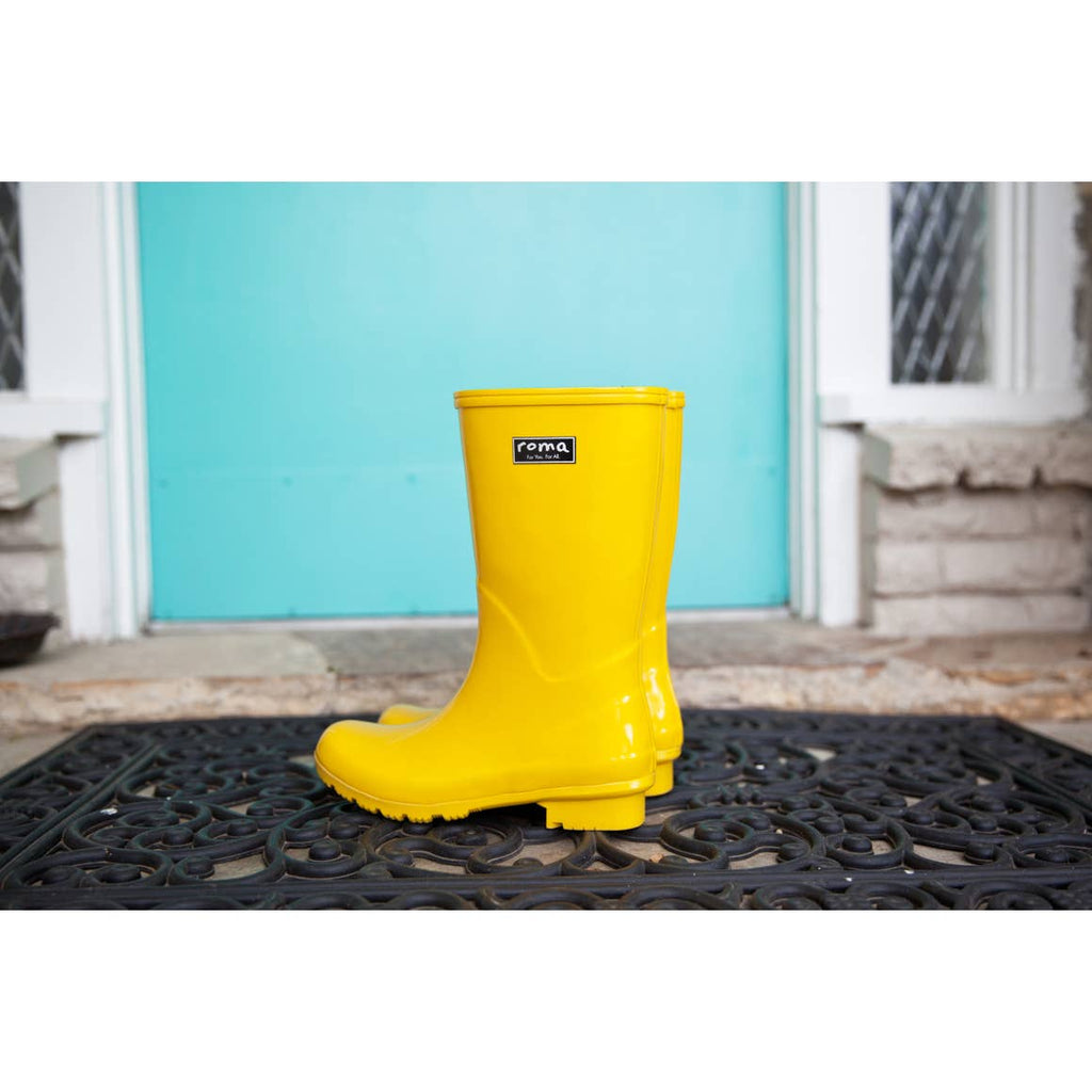 EMMA MID CALF YELLOW WOMEN'S RAIN BOOTS