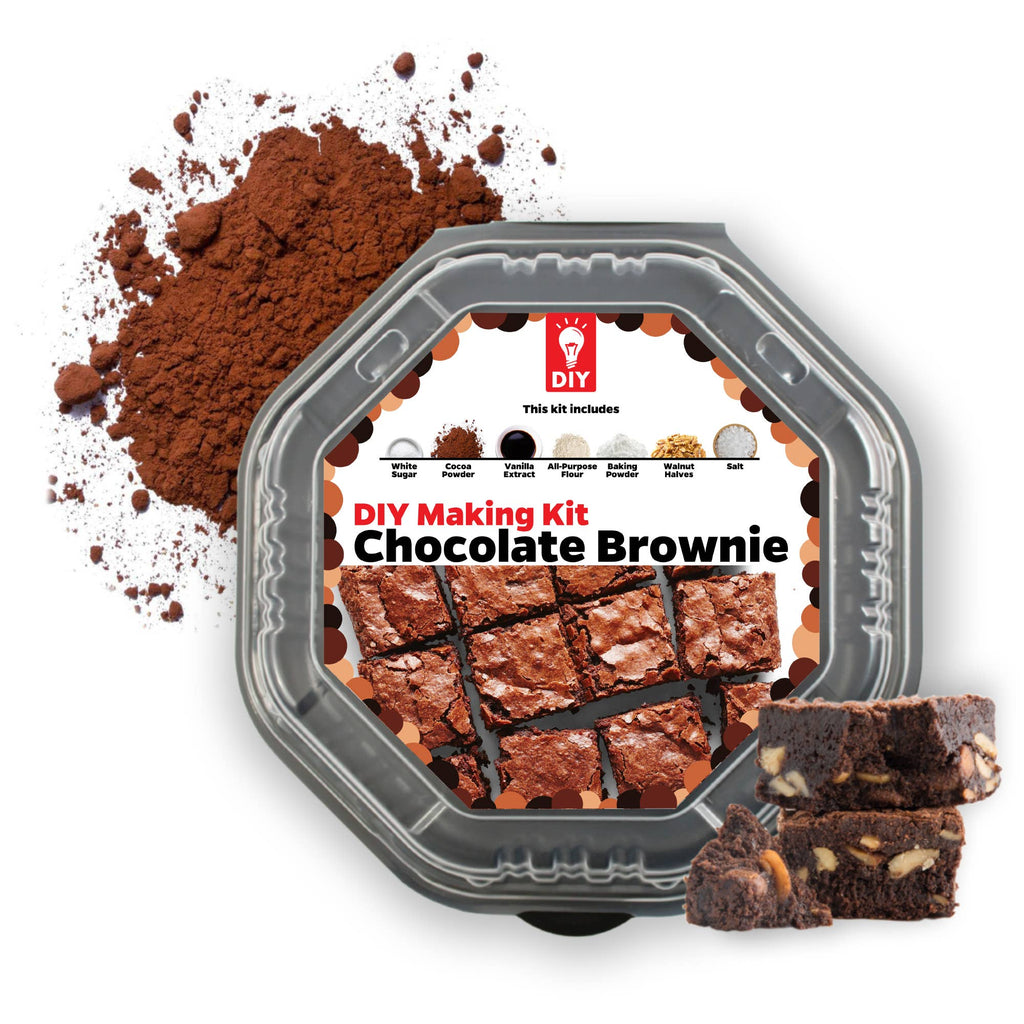 Chocolate Fudge Brownie DIY Baking gift Kit