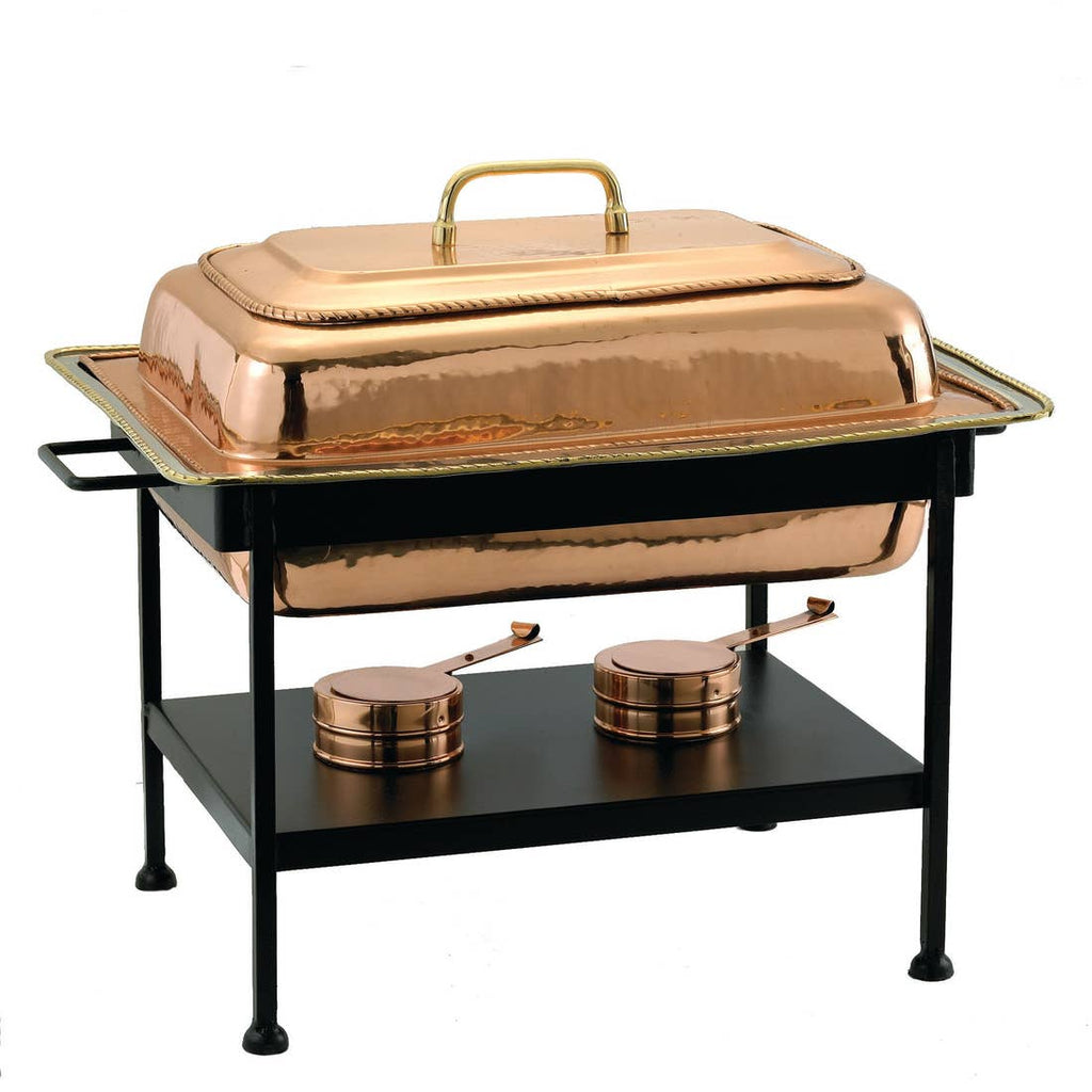 Rectangular Copper Over Chafing Dish
