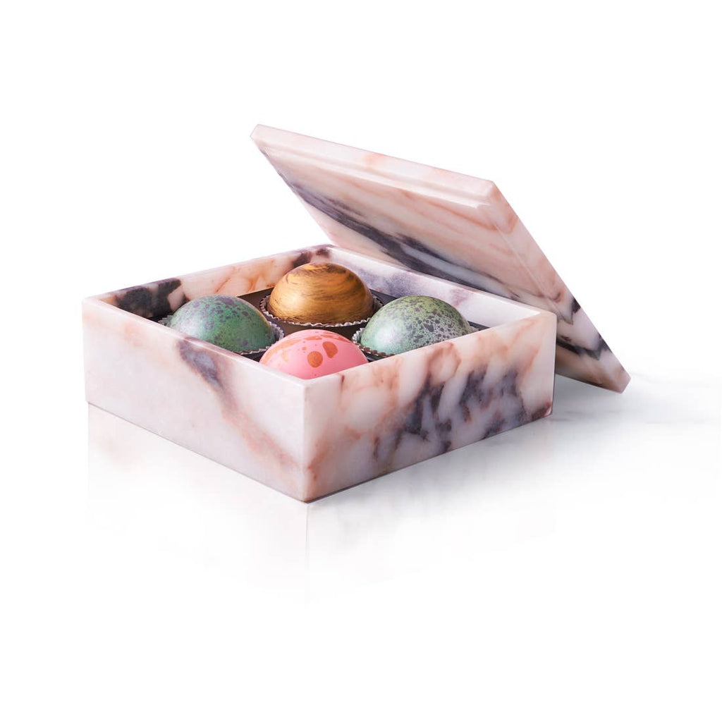 4 Truffle Marble Box - 6 oz