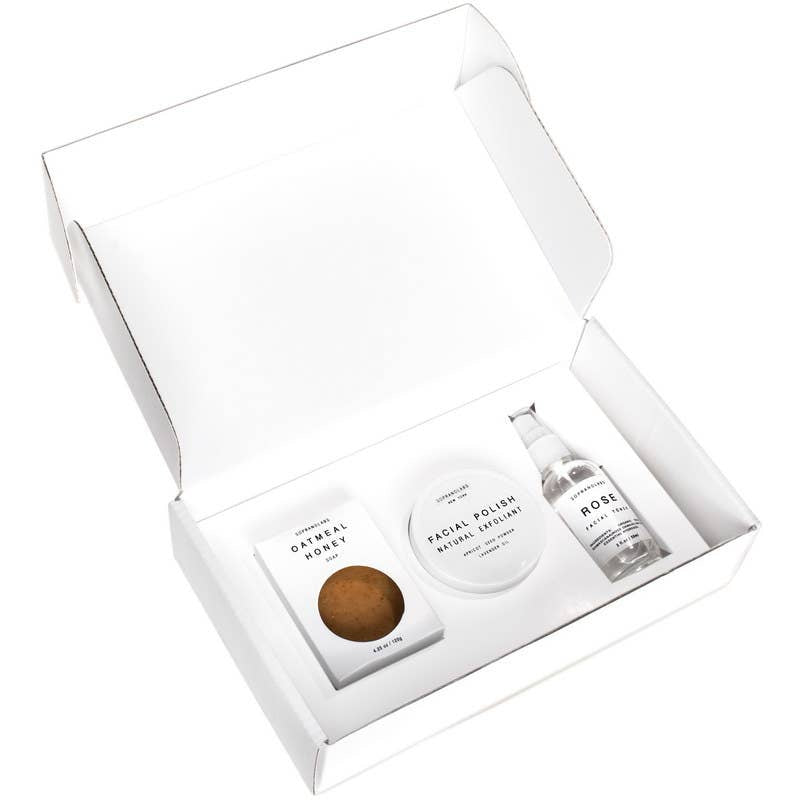 Cleansing & Clarifying Beauty Set. All Natural Face Gift kit