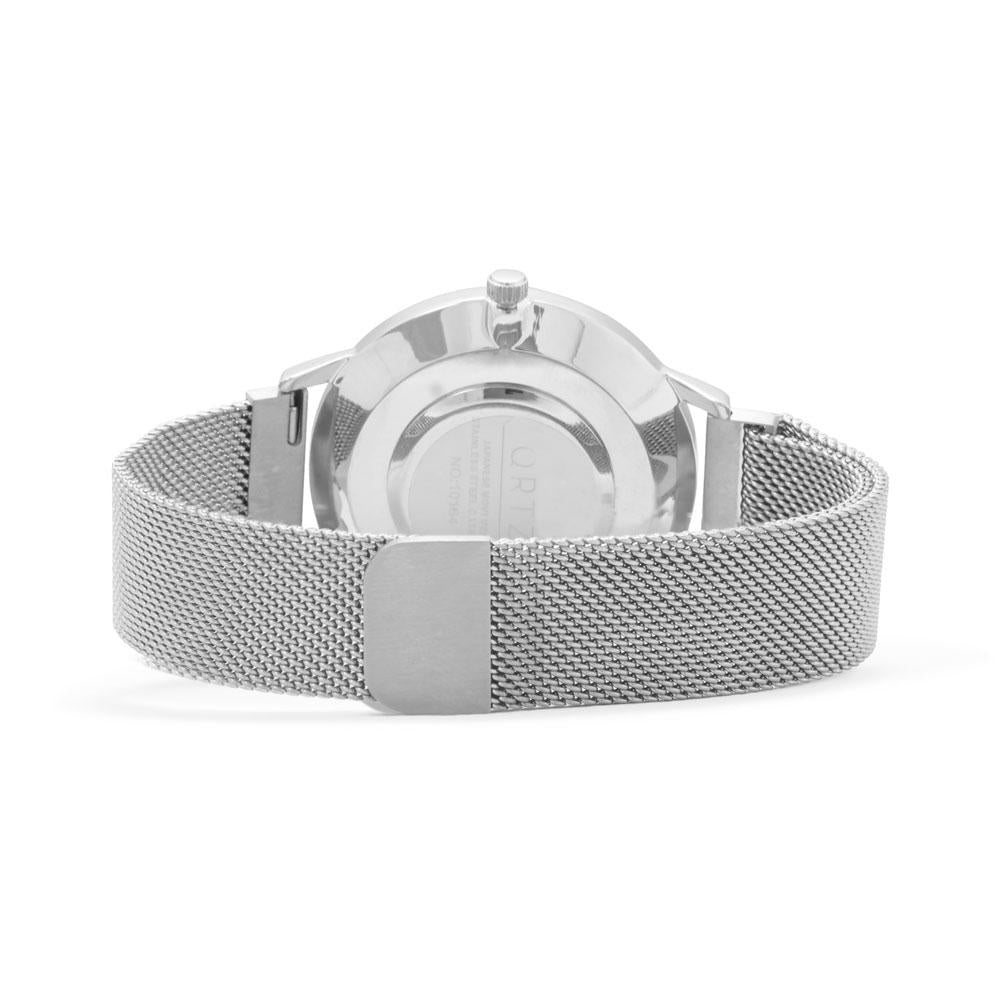 Silver Big-face Mesh Magnetic Watch
