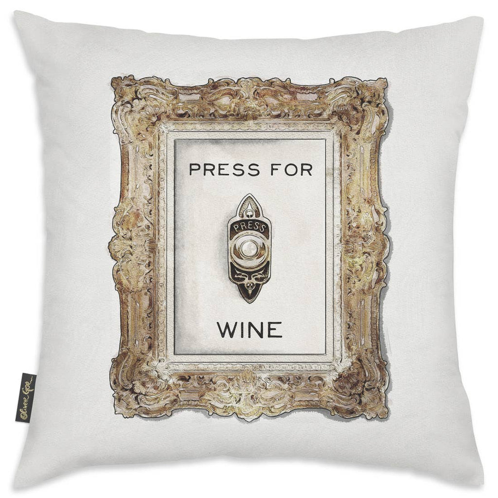 Oliver Gal 'Press For Wine' Decorative Pillow