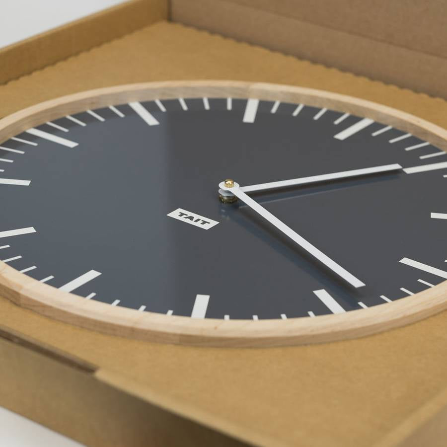 Slate Solid Maple and Aluminum Wall Clock