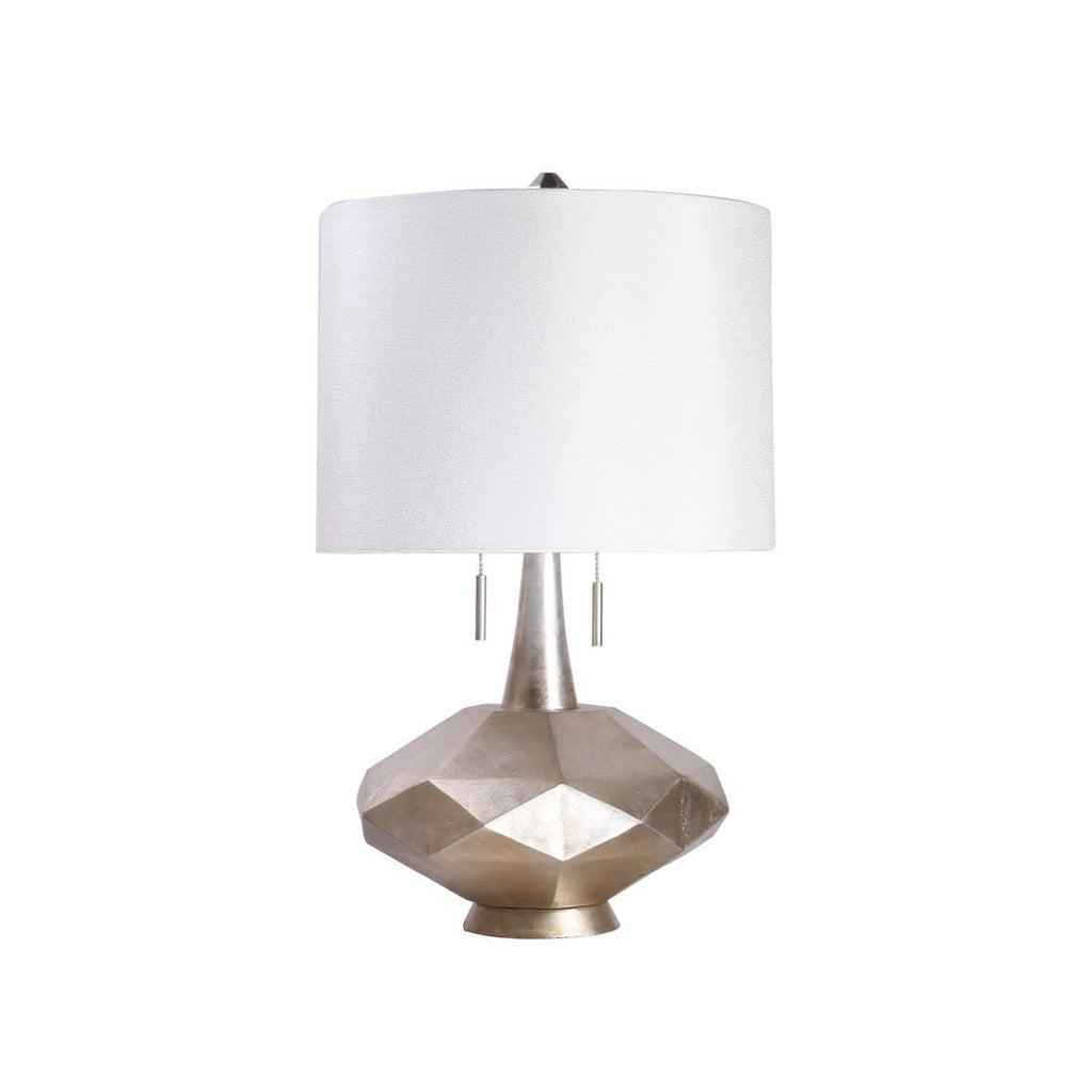 Silver Sadie Twin Pull Table Lamp