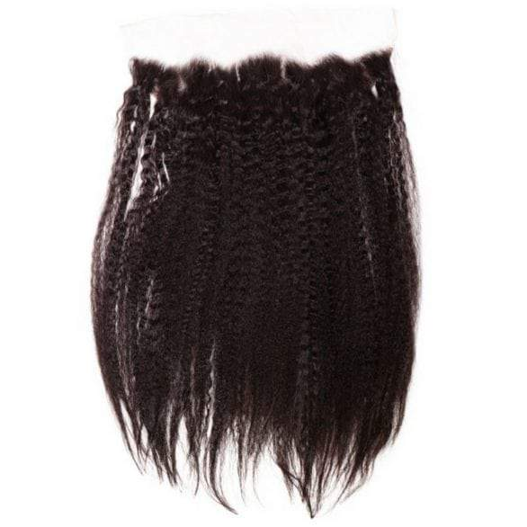 Stunning 4C Hair Natural Blow Dry Straight Lace Frontal