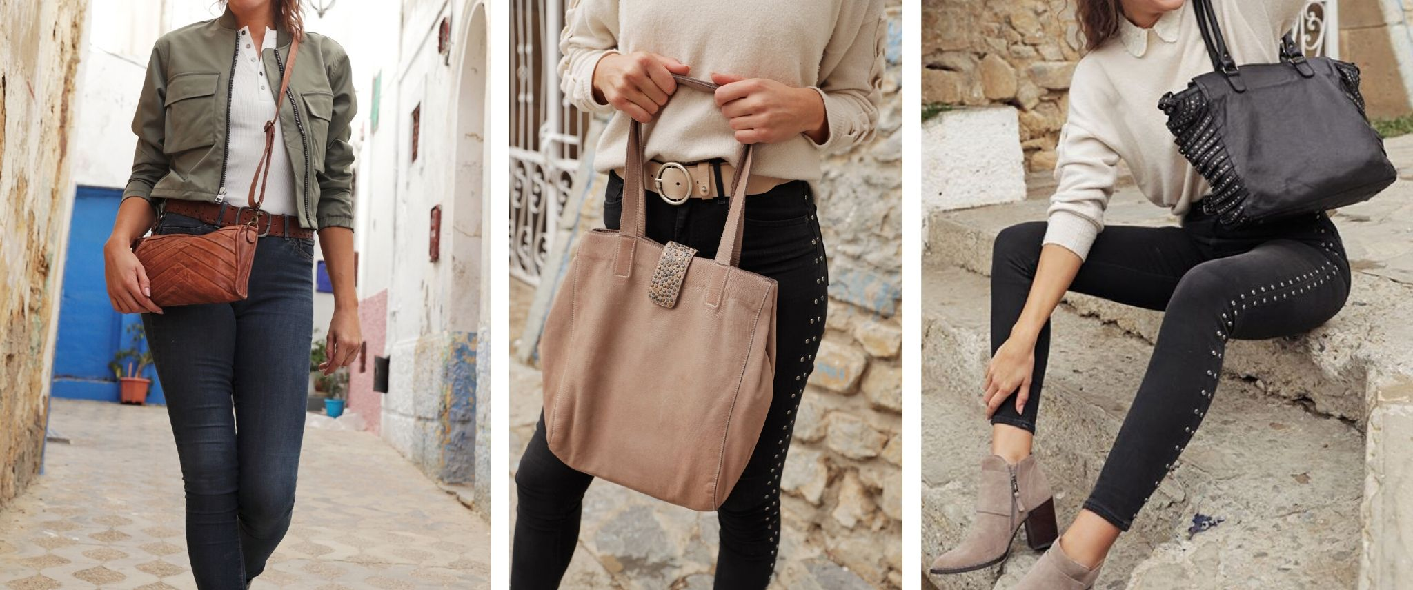 womens leather bags banner