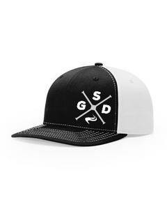 GSD Twill Hat- Black/White