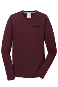 EMIT Logo Performance Long Sleeve- Maroon