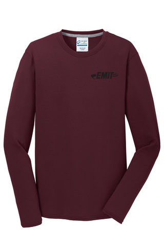 EMIT Logo Performance Long Sleeve PC381LS- Maroon