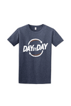 Day by Day Men's Softstyle T-Shirt 64000- Heather Navy