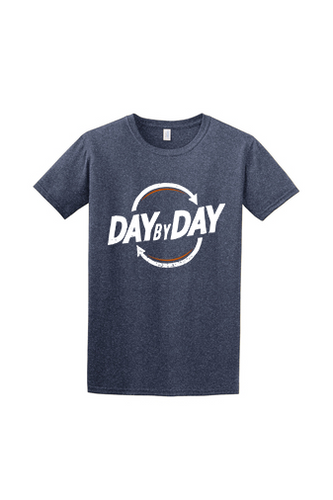 Day by Day Softstyle T-Shirt- Heather Navy