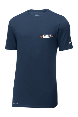EMIT Nike Dri-FIT Cotton/Poly Tee NKBQ5233  - Navy