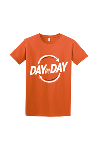 Day by Day Softstyle T-Shirt- Action Orange