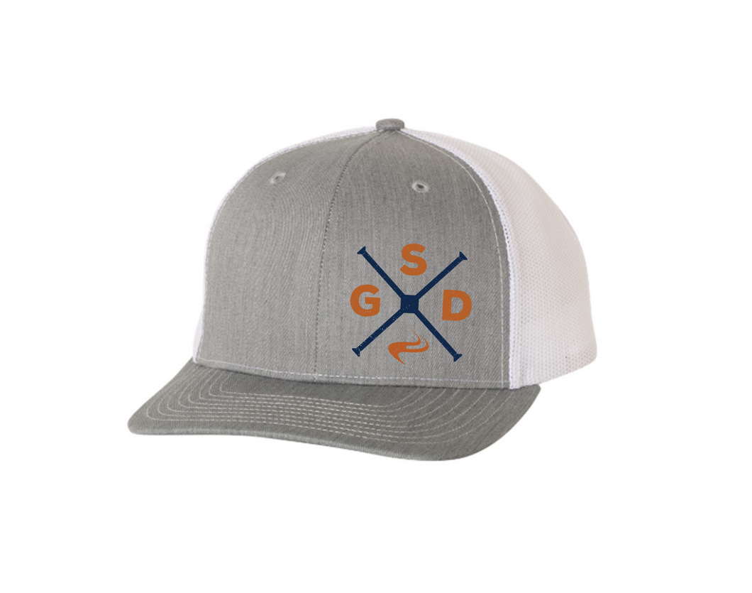 GSD Snapback Trucker Hat- Heather/White