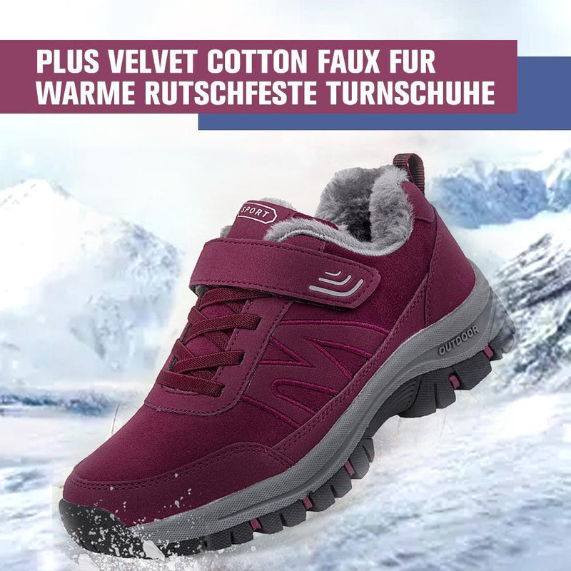 Plus Velvet Cotton Faux Fur Warme rutschfeste Turnschuhe