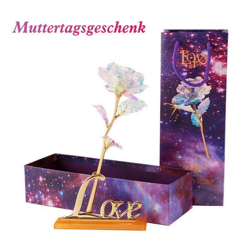 Bunte Galaxy Rose mit Love - hallohaus
