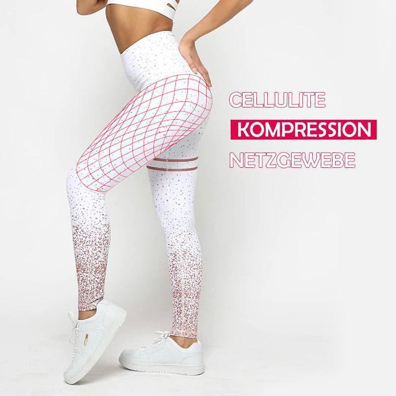 Nahtlose Anti-Cellulite Kompressions-Leggings