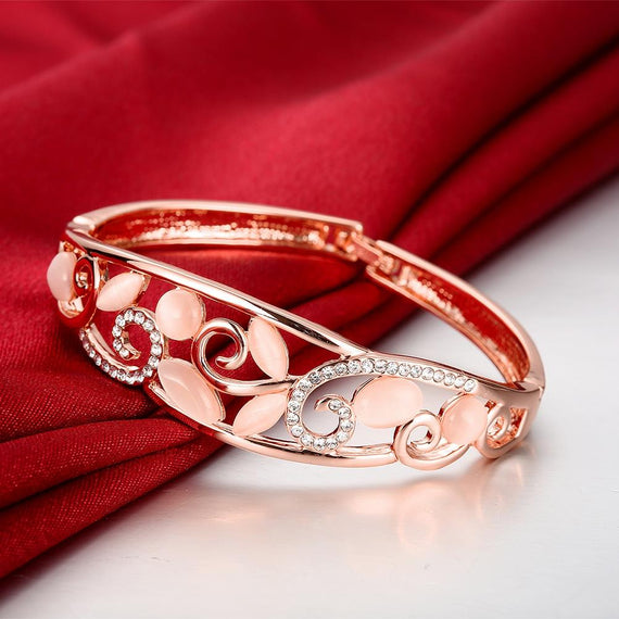Ventura Rose Gold Plated Bangle
