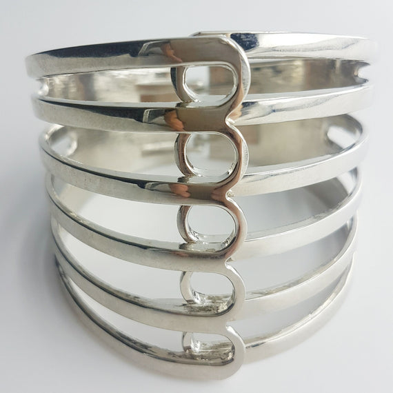 Electra White Gold Plated Bangle