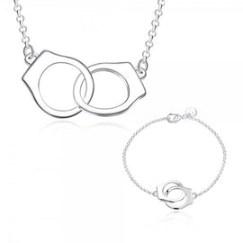 cuff-link-silver-plated-bracelet-and-necklace-set