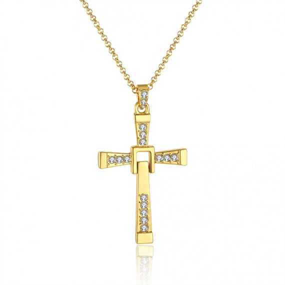 vin-diesel-elegant-cross-gold-plated-necklace