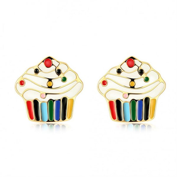cupcake-18k-gold-plated-earrings-multicolored